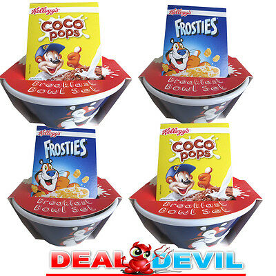 4 x Kelloggs Frosties Coco Pops Tip & Sip cereal bowls.New sealed Free delivery.