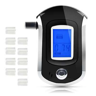 Breath Alcohol Tester with 10 Mouthpieces, HusDow Professional Breathalyzer with