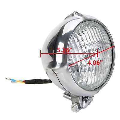 OSAN Motorcycle H4 Vintage HeadLight Lamp For Harley Bobber Sportster (Chrome wi