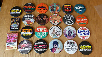*reduced*  Collection Of 23 Different Original Vintage Boxing Pin Pinback Badge