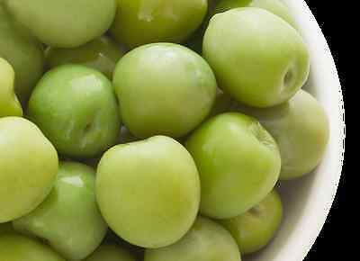 deli med - Sweet Whole Sicilian NOCELLARA Olives - 3kg (Drained Weight)