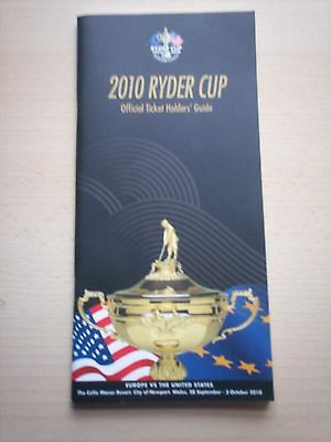 Ryder Cup 2010 Official Ticket Holders' Guide