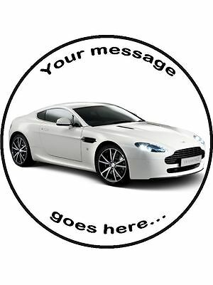 """Classic Aston Martin Db5 Edible Topper Wafer or Icing 7 1//2/"""" round cake topper"""