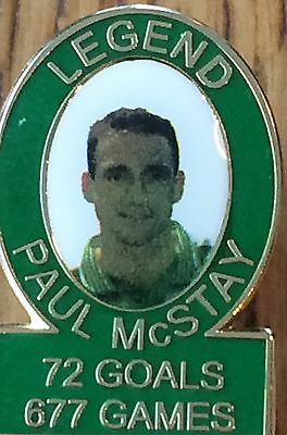 Paul Mc Stay legend 677 games 72 goals pin badge free posting UK.