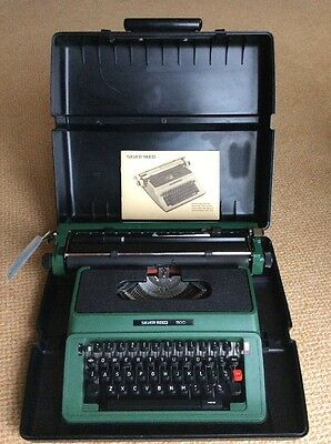 Silver Reed 500 Typewriter cased and working Original condition come with manual