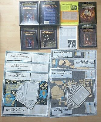 AD&D THE RUINS OF UNDERMOUNTAIN I+II Advanced Dungeons&Dragons (2 boxes in one)
