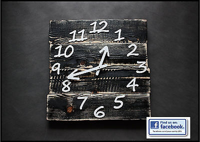 Reclaimed Pallet Wood Wall Clock 'Mitte' Art Industrial Rustic Shabby Chic