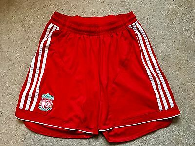 """Adidas Liverpool Home Football Soccer Shorts Size L Large 36"""""""