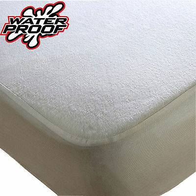 Fitted Mattress Protector Sheet Cover Terry Towel Waterproof Resistant Bed Cot