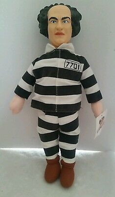 "New With Tag 1999 Three Stooges Larry 15"" Plush Doll Jailbird By Play By Play"