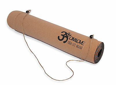 Omlove Cork Yoga Mat Accessories Fitness Exercise Gym Workout Non-Slip Pilates