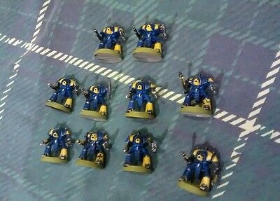 TEN imperial Knights (warden?) for Warhammer Epic 40k. 40,000 figures complete