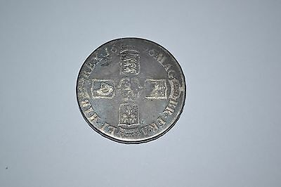 1696 Crown Octavo - William Iii British Silver Coin