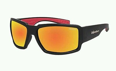 Floating sunglasses sea Bomber brand Boogie black frame red Mirror Polarised
