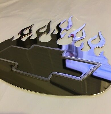 BULLY 6 INCH STAINLESS STEEL FORD OVAL FLAME TRIM TT--201  MIRROR FINISH