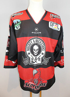 Hanovre Femme Scorpions 15/16 Game Issued Jersey #18 M Hockey Sur Glace Trikot