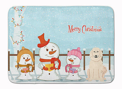 Merry Christmas Carolers Great Pyrenese Machine Washable Memory Foam Mat