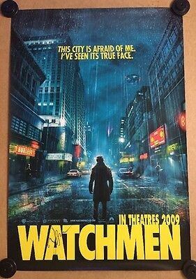 Rare -Watchmen - ORIG - CINEMA One SHEET Poster- Signed By Zack Snyder /Not Quad