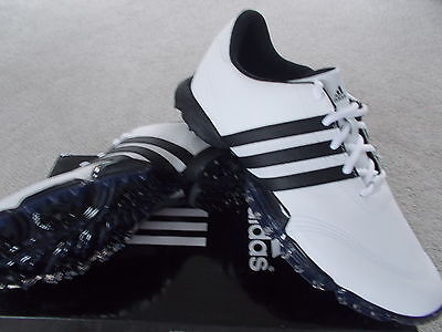 Mens Golf Shoes Adidas Powerband Grind 2 White Waterproof Uk9.5 Leather 675590