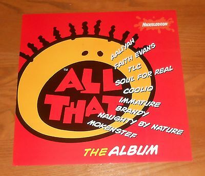All That The Album Poster 2-Sided Flat Promo 12x12 Aaliyah Coolio Faith Evans