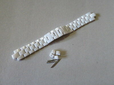 J12 Ladies 14mm white watch band strap bracelet Compatible With Chanel