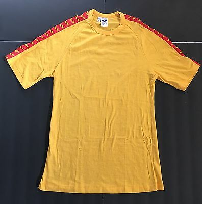 VTG 1970s DEADSTOCK ARENA ADIDAS MARK SPITZ ERA SWIM SHIRT RASHGUARD SZ L YELLOW