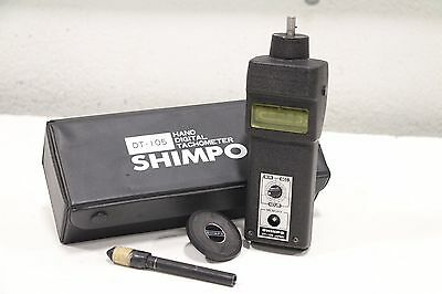 Shimpo Hand-Held Digital Tachometer DT-105 with Wheel & Case