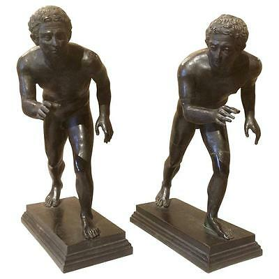 Grand Tour Bronzes of Wrestlers after the Roman Originals -a Pair