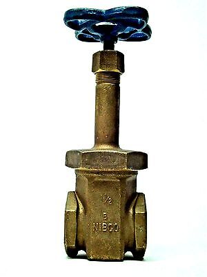 NEW! Nibco 1-1/2'' FNPT Brass Gate Valve 150 SWP 300 WOG FREE SHIPPING! KB