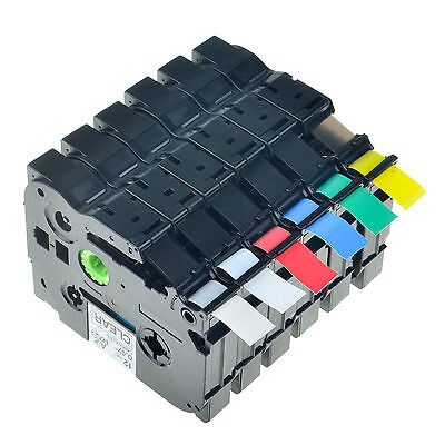 """1/2"""" For Brother P-Touch Laminated TZe, TZ Label Tape Cassette 12mm Set -6PK"""