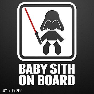 BABY SITH ON BOARD Vinyl Decal Sticker