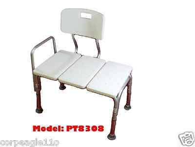 Bathtub Transfer Bench  For Bath Chair With Back  Seat Medical Adjustable Shower