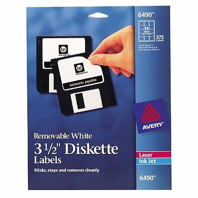 """Avery Media Labels (AVE6490), 3-1/2"""" Diskette Labels 15 labels per sheet, ...NEW"""