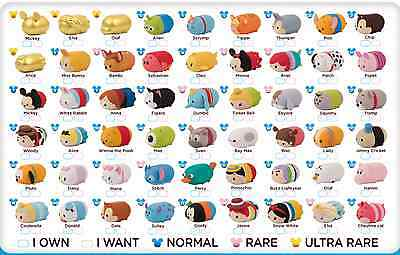 New Disney Tsum Tsum Squishy Squishies Original Series 1, Rare/ Ultra Rare Gold