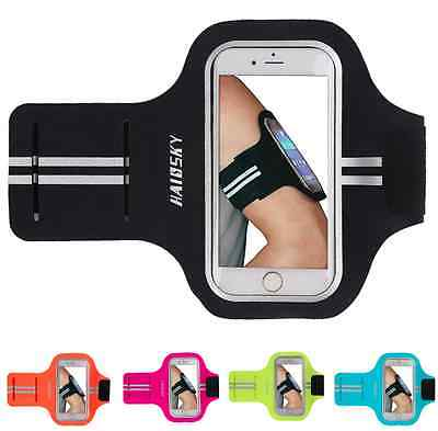 "Up to 5"" Phone Slim Armbands Sports Gym Running Apple iPhone 8 7 6 6S Galaxy S6"