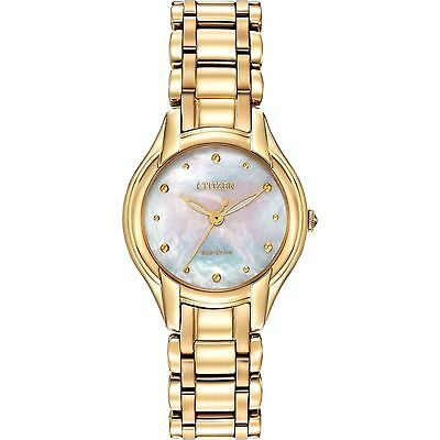 Citizen Eco-Drive Women's EM0282-56D Silhouette Gold Tone Watch