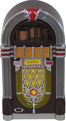 Jukebox Miniature Replica Wurlitzer 1015 (1946) Plays The Platters Only You