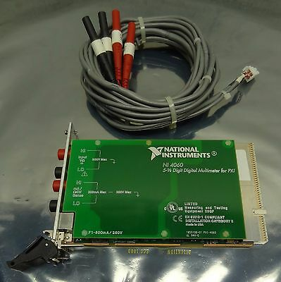 NATIONAL INSTRUMENTS NI PXI-4060 5-1/2 Digit Digital Multimeter DMM Card for PXI