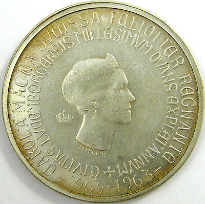 1963 Luxembourg 250 Francs  Km# 53.1  Silver  An Xtra Fine Coin