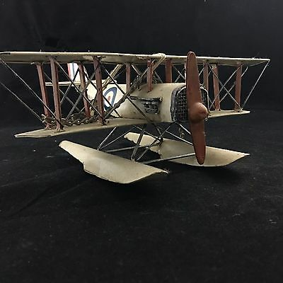 Metal Model WW1 BRITISH Sea Plane, a very detailed and good example.