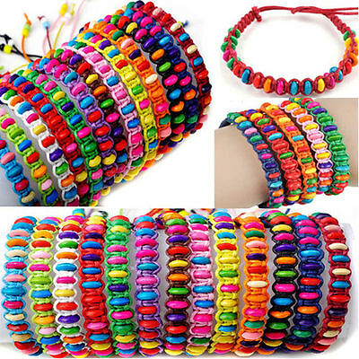 12pcs Wholesale Beads Braid Handmade Fashion Friendship Adjustable Bracelets