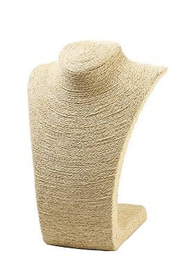 """Burlap Necklace Bust Jewelry Display Stand (10.8"""") by Juvale...NEW"""
