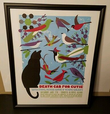 DEATH CAB FOR CUTIE - Toronto Olympic Island *2008* - FRAMED Concert/Gig Poster