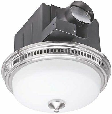 Monument BPT14-24AL Bathroom Exhaust Fan with Light, 110 CFM, Brushed Nick...NEW