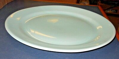 "Vtg Lu-Ray Pastels Teal Green 14"" Round Platter Large Plate Taylor Smith Taylor"