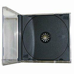 25 Standard CD Jewel Case - Assembled - Black...NEW