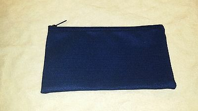 1 2 3 4 5 or 6 Pack Zippered Blue Heavy Polyester Money Bank Deposit Bag
