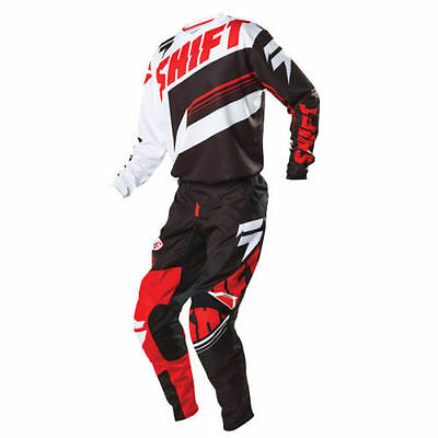 Shift Racing Assault Gear Set Black White Red 3XLarge / 40