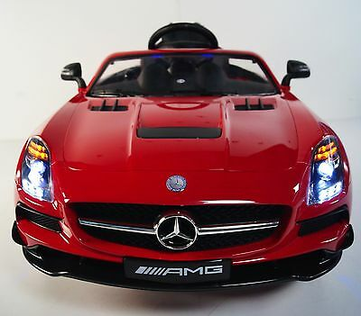 Kids Ride On Car Mercedes SLS AMG 12v Battery Operated With Remote Control Red