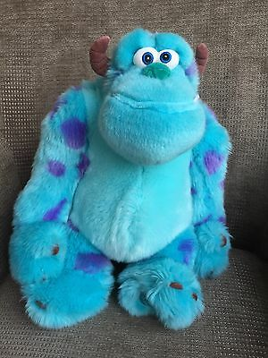 Large Disney Store Sulley Monsters Inc Blue Monster Soft Toy VGC